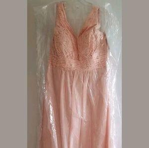 Christina Wu Bridal Formal Lace Chiffon Dress